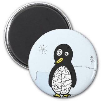 Bumpy Brains Penguin 6 Cm Round Magnet