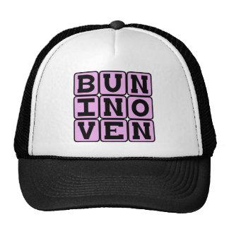 Bun In Oven, Pregnancy Announcement (Pink) Hats