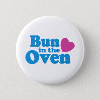 Bun In The Oven 6 Cm Round Badge