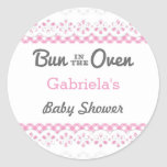 Bun In The Oven Baby Shower Favour Sticker