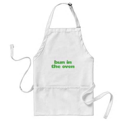 Bun In the Oven - green Apron