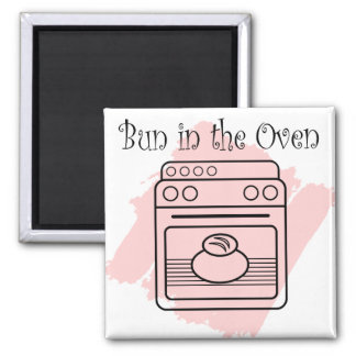 Bun in the Oven Square Magnet