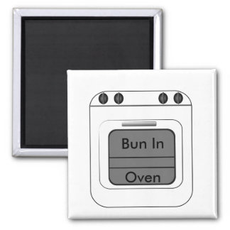 Bun N The Oven Square Magnet