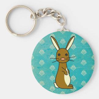 Bunbun - Cute Rabbit Basic Round Button Key Ring