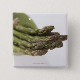 Bunch of asparagus 15 cm square badge
