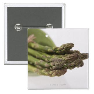 Bunch of asparagus 15 cm square badge