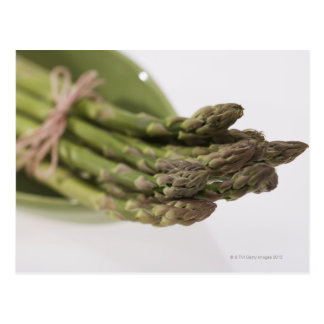 Bunch of asparagus postcard
