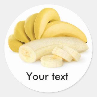 Bunch of banana classic round sticker