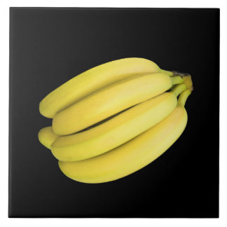 Bunch of bananas large square tile