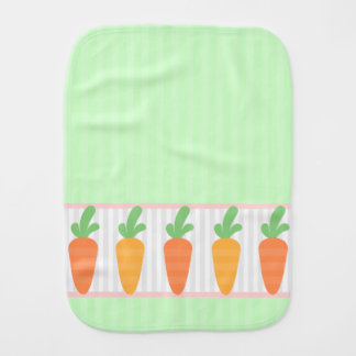 Bunch of Carrots Patterned Baby Burp Cloths