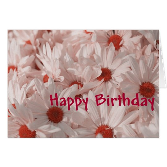 Bunch of Daisies Happy Birthday Greeting Card