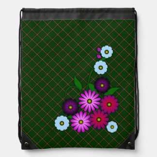 Bunch of flowers drawstring bag