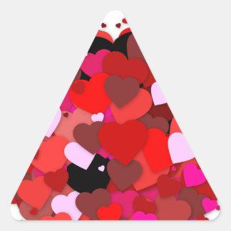 Bunch of Hearts Triangle Sticker