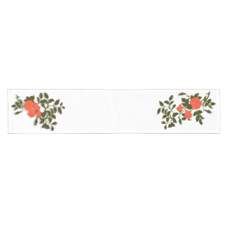 Bunch of Orange, Salmon, Coral Roses Short Table Runner