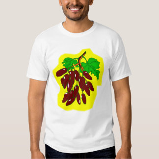 Bunch of peppers with yellow background tee shirt