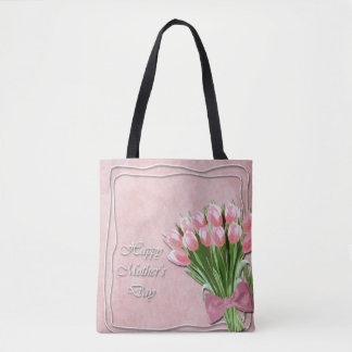 Bunch of Pink Tulips mother's Day Tote Bag