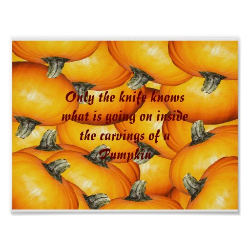 Bunch of Pumpkins with Saying Poster