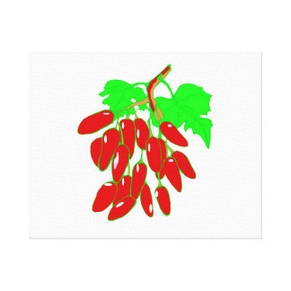 Bunch of red peppers canvas print