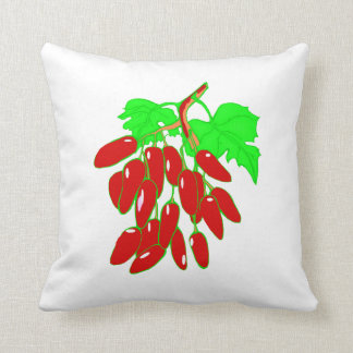 Bunch of red peppers cushion