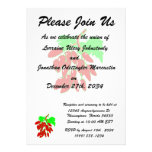 Bunch of red peppers personalized invite