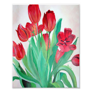 Bunch of Red Tulips Photographic Print