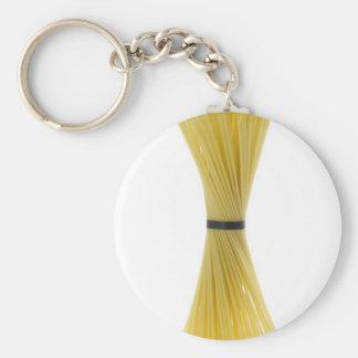 Bunch of spaghetti basic round button key ring