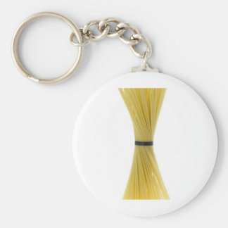 Bunch of spaghetti basic round button key ring
