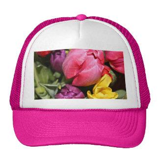 Bunch of Tulips Bouquet Mesh Hats