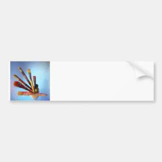 Bunch Of Used Paint Brushes Bumper Sticker