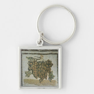 Bunch of white grapes, Roman mosaic Key Ring