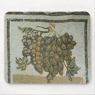 Bunch of white grapes, Roman mosaic Mouse Mat