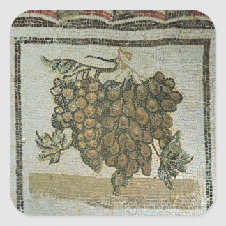 Bunch of white grapes Roman mosaic Sticker