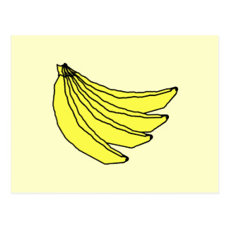 Bunch of Yellow Bananas. Post Card