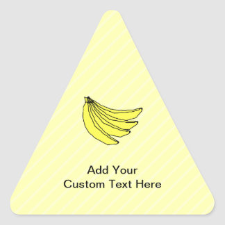 Bunch of Yellow Bananas. Triangle Sticker