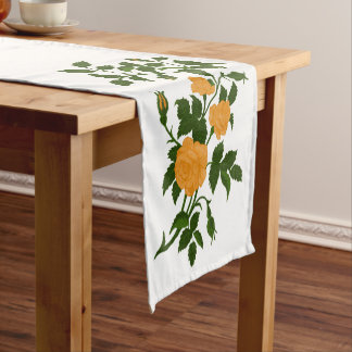 Bunch of Yellow Ornamental Roses Short Table Runner