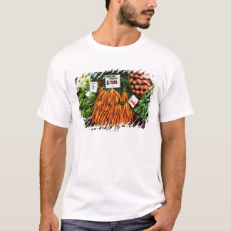 Bunches of carrots and vegetables on market T-Shirt