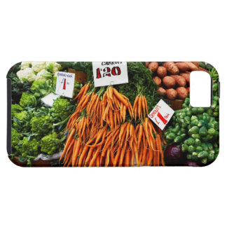 Bunches of carrots and vegetables on market tough iPhone 5 case