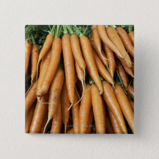 Bunches of carrots, full frame 15 cm square badge