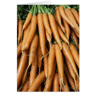 Bunches of carrots, full frame card
