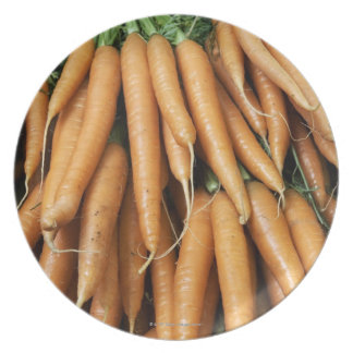 Bunches of carrots, full frame plate