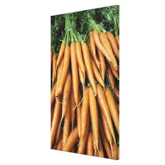 Bunches of carrots, full frame stretched canvas print