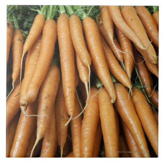 Bunches of carrots tile
