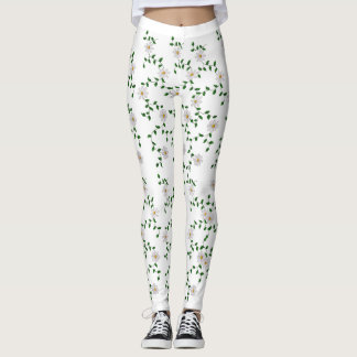 Bunches of Yellow and White Daisies Leggings