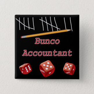 Bunco Accountant 15 Cm Square Badge