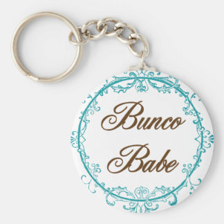 bunco babe basic round button key ring