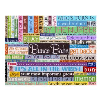 Bunco Babe Postcard