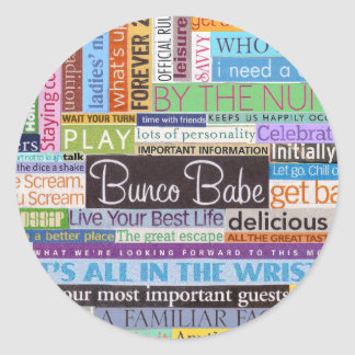 Bunco Babe Round Sticker
