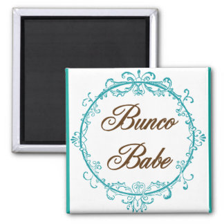 bunco babe square magnet