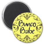 Bunco Babe with Swirls Button 6 Cm Round Magnet
