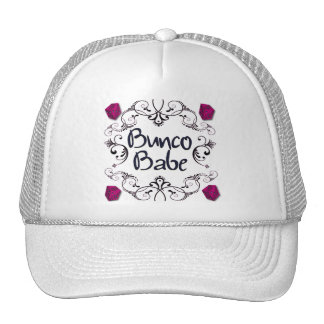 Bunco Babe with Swirls Button Cap
